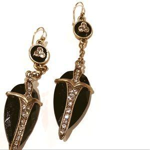Lucky Brand Beautiful Earrings Brass & Black